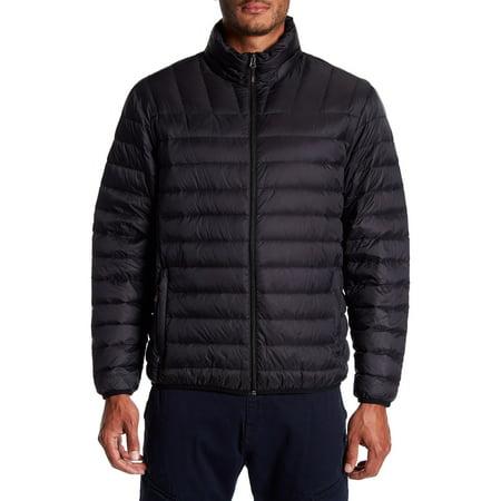 9 Crowns Men's Packable Down Puffer Jacket, Regular + Big & Tall