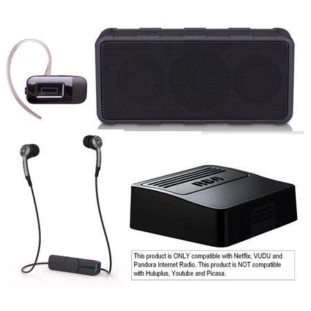 Tech & Gadget Lovers Electronics Gift Box Portable Audio Bundle Holiday Christmas - Speaker, Bluetooth Earbuds, Sony Headphones for iPhone & Android + Netflix Player (New Open Box) ()