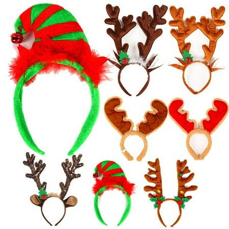 Christmas Headband Hat Fancy Dress Hat Antlers Reindeer Headdress Kids Adult