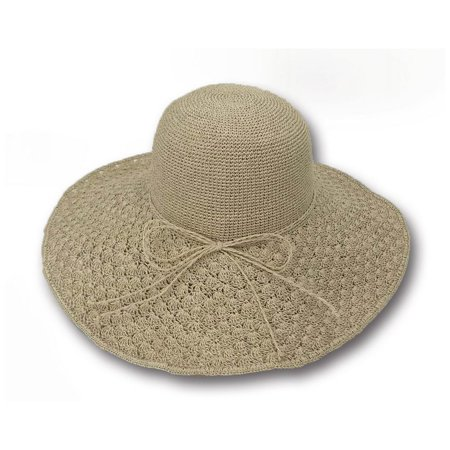 0de8c475b06 Sun Styles Foldable Crushable Viri Women s Organic Raffia Sun Hat - Light  Brown - image 1 ...