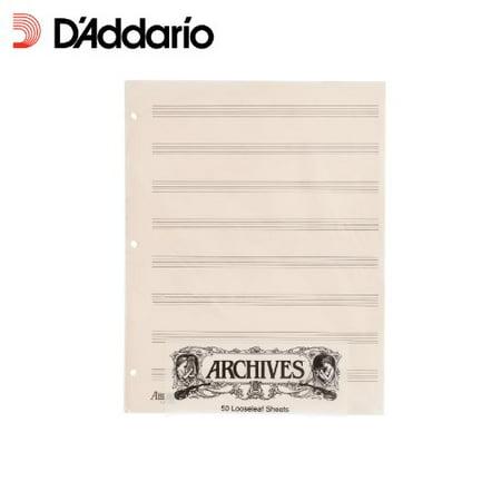 Archives Looseleaf Manuscript Paper , 8 Stave, 50 Pages (Archives Manuscript Paper)