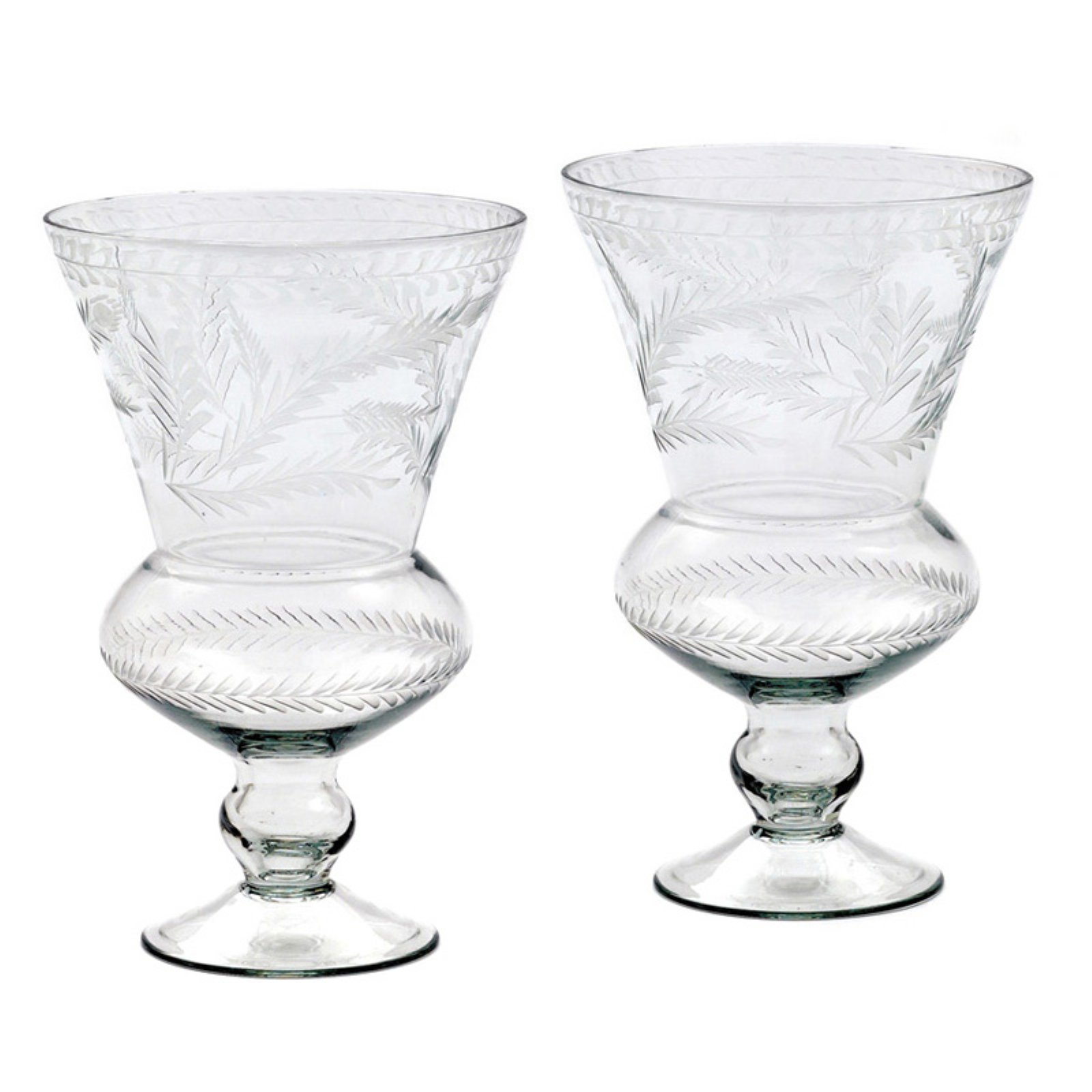 Hip Vintage Bistro Hurricane Candle Holder - Set of 2