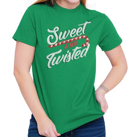 Sweet Twisted Cute Christmas Candy Cane Pun T Shirt Tee](Candy Cane Top)