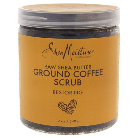 Raw Shea Butter Ground Coffee Scrub by Shea Moisture for Unisex - 12 oz Scrub