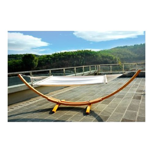 Aosom Outsunny Arc Patio Cotton Hammock with Stand by Outsunny