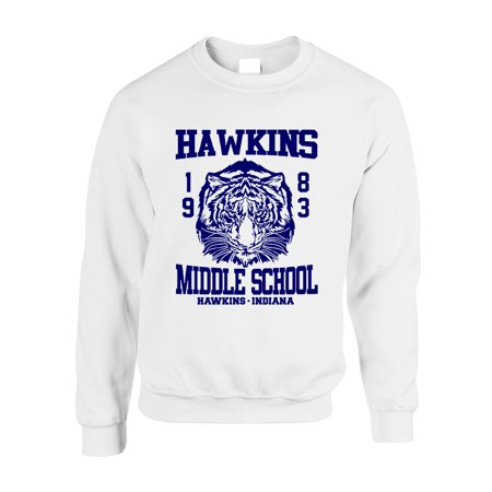 - Allntrends Adult Crewneck Sweatshirt Hawkins Middle School 1983