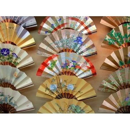 Folding Fan Kyoto Japan Stretched Canvas - Shin Terada  DanitaDelimont (21 x 16)](Japanese Fan)