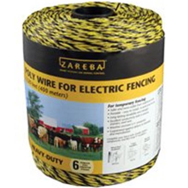 Zareba PW1320Y6-Z 0.25 Mile Poly Fence Wire