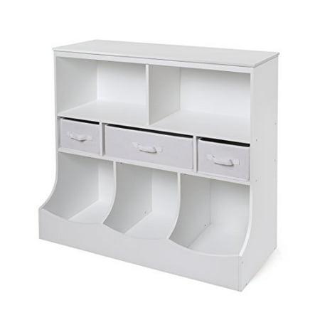 Combo Bin Storage Unit w/3 Baskets - White - image 1 of 1