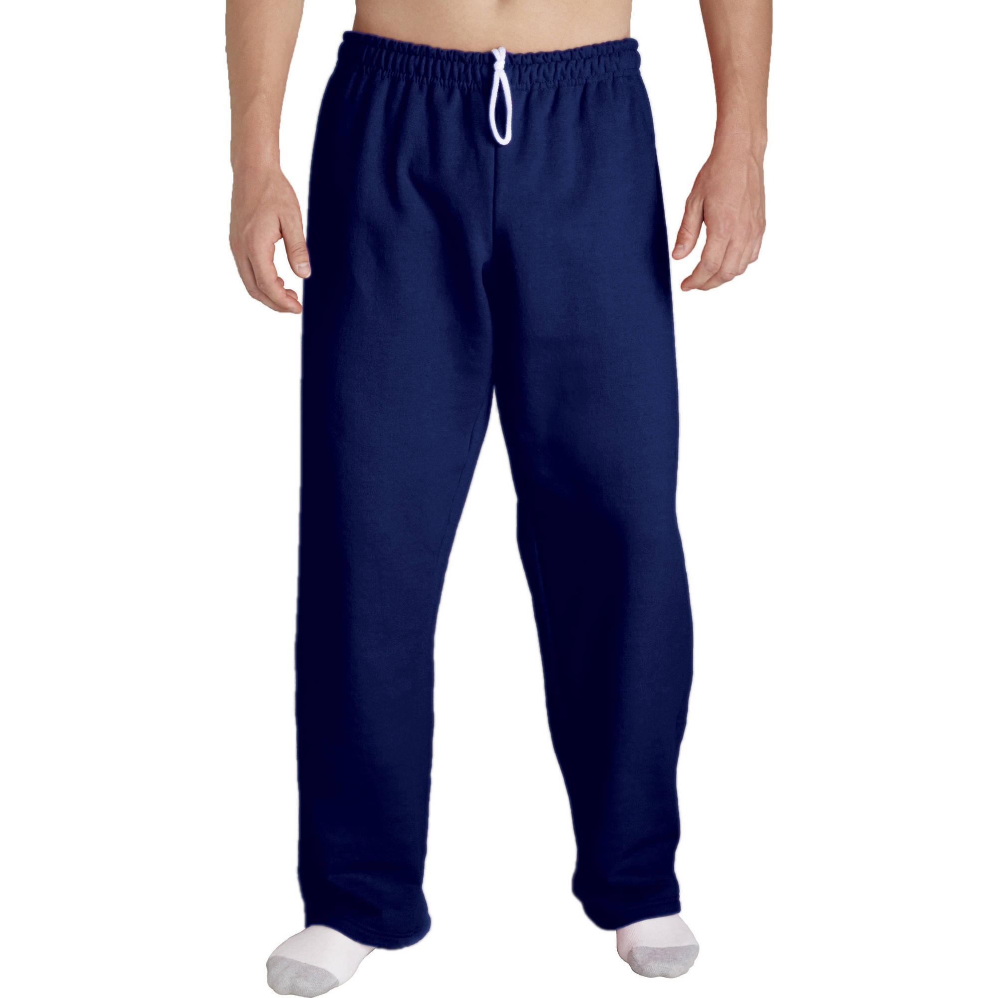 596282c21ada Gildan - Gildan Men s Open Bottom Pocketed Sweatpant - Walmart.com