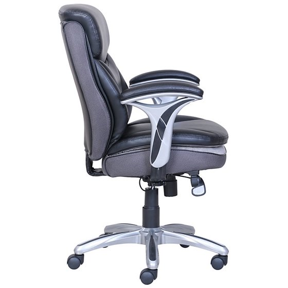 Pleasing Serta Smart Layers Verona Manager Chair Black Silver Pabps2019 Chair Design Images Pabps2019Com