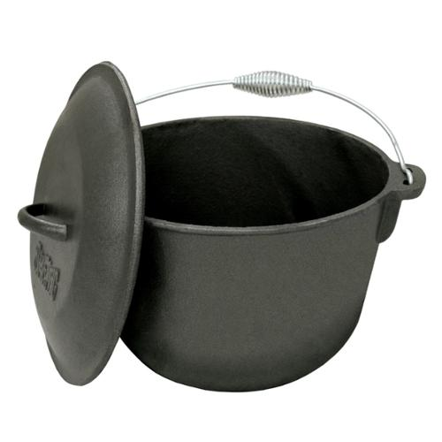 Bayou Classic Cast Iron 6-qt Covered Soup Pot