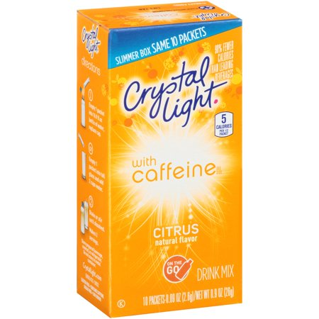 Crystal Light On The Go Energy Citrus Drink Mix  10Ct
