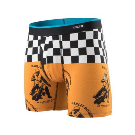 Harley Davidson Boxers (Harley-Davidson Stance Men's Fast Not Last Checker Boxer Brief M801D18FAS, Harley)
