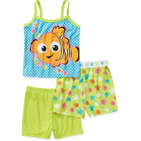 Disney Baby Girls' Nemo 3 Piece Short Sl