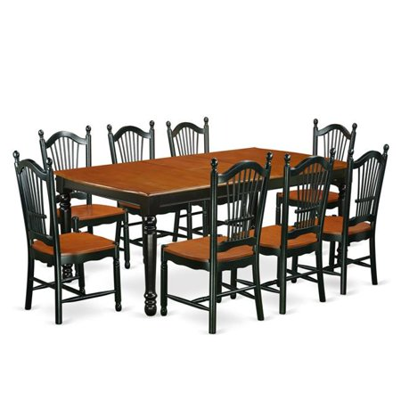 9be418e402f6c East West Furniture DOVE9-BCH-W 9 PC kitchen tables and chair set with