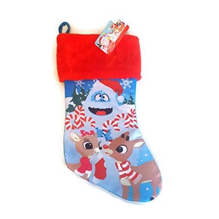 rudolph the red nosed reindeer & clarice bumble christmas stocking