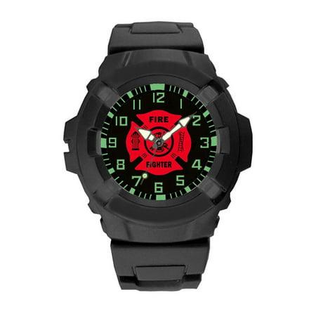 Aqua Force Firefighter Insignia Combat Field Watch (50M water resistant) Fighter Pilot Watch