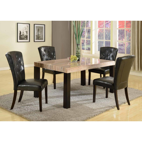 Roundhill Furniture Zanic 5 Piece Dining Set