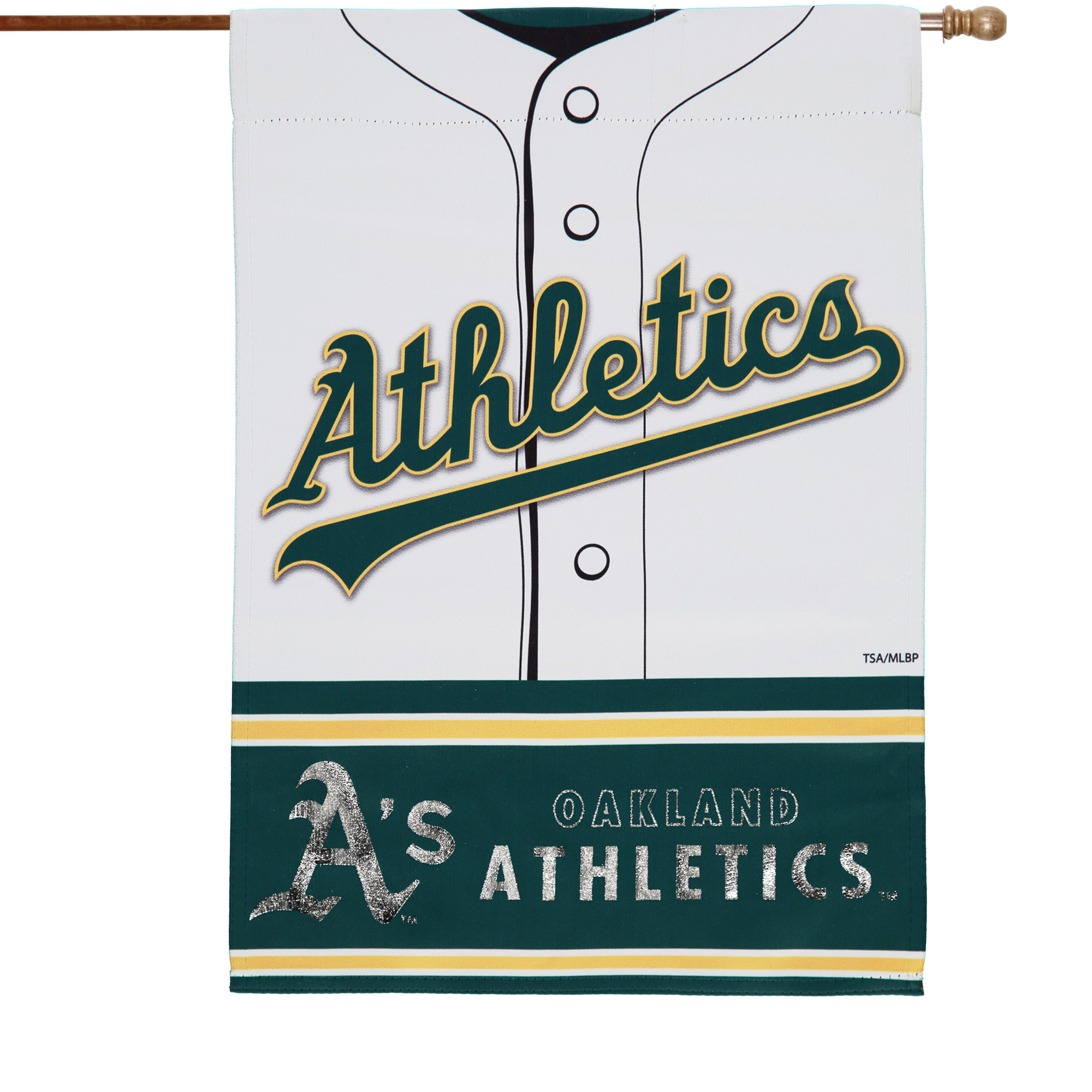 """Oakland Athletics 29"""" x 43"""" Double-Sided Jersey Foil House Flag - No Size"""