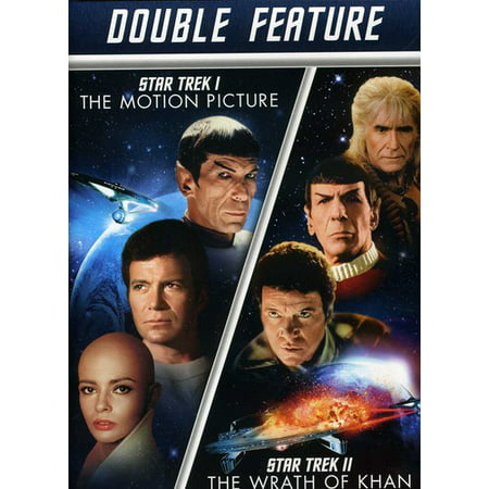 STAR TREK 1-MOTION PICTURE/STAR TREK 2-WRATH OF KHAN (DVD/DBLE FEAT/2DISCS)