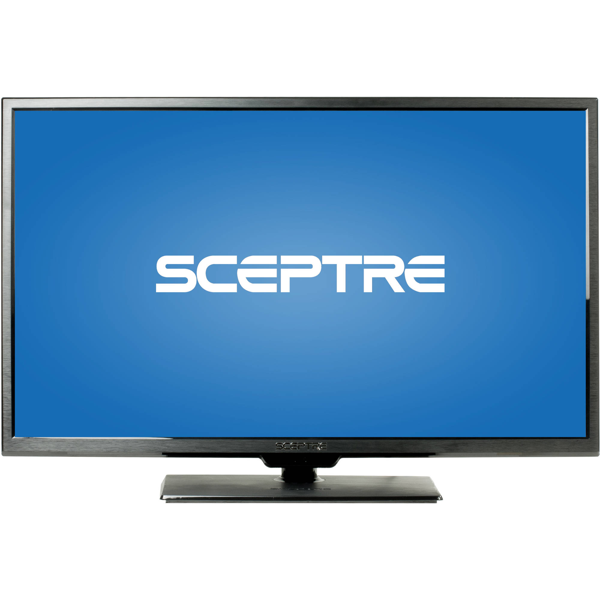 "SCEPTRE X322BV-M 32"" LED Class 720P HDTV with ultra slim metal brush bezel, 60Hz"