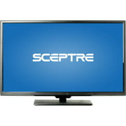 "SCEPTRE X322BV-M 32"" LED Class 720P HDTV with ultra slim metal brush bezel, 60Hz"