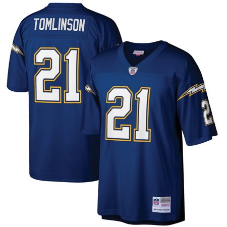 Ladainian Tomlinson Signed Authentic Helmet - LaDainian Tomlinson San Diego Chargers Mitchell & Ness 2006 Replica Retired Player Jersey - Navy