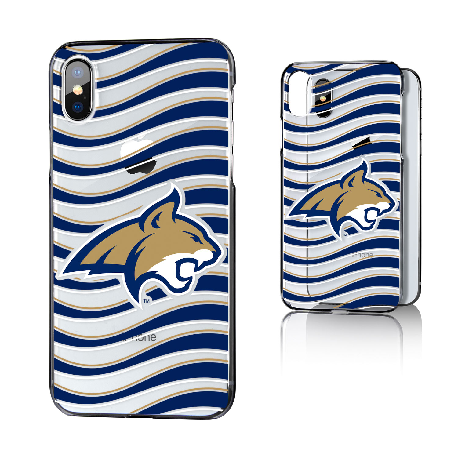 MSU Montana State Bobcats Wave Clear Case for iPhone X