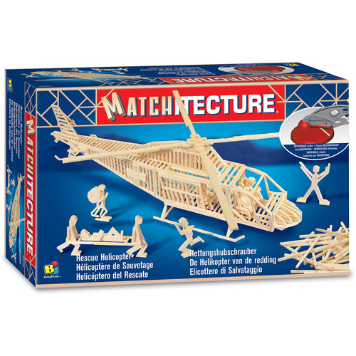 Matchitecture Rescue Helicopter Building Kit