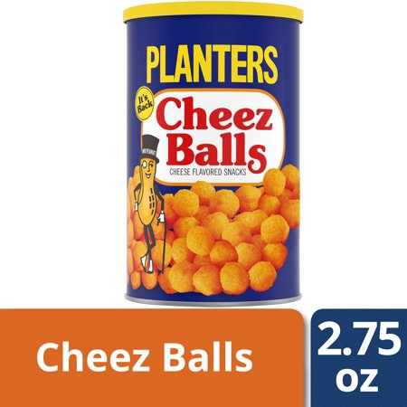 Halloween Cheese Ball Kraft ((4 canisters) Planters Cheez Balls, 2.75 Oz)