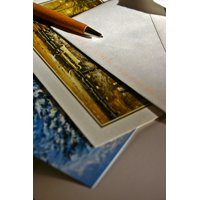 Canvas Print Leave Pen Cards Greeting Card Christmas Card Stretched Canvas 10 x 14