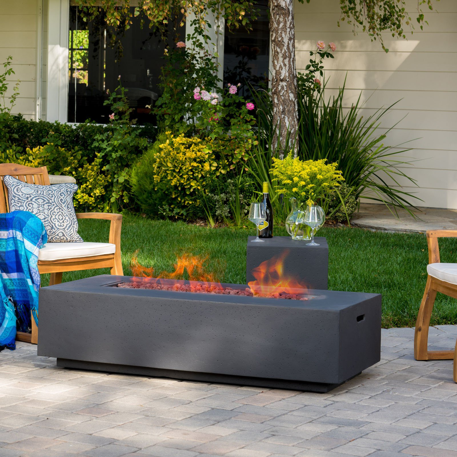 Amelia Propane Firepit Table by Best Selling Home Decor Furniture LLC
