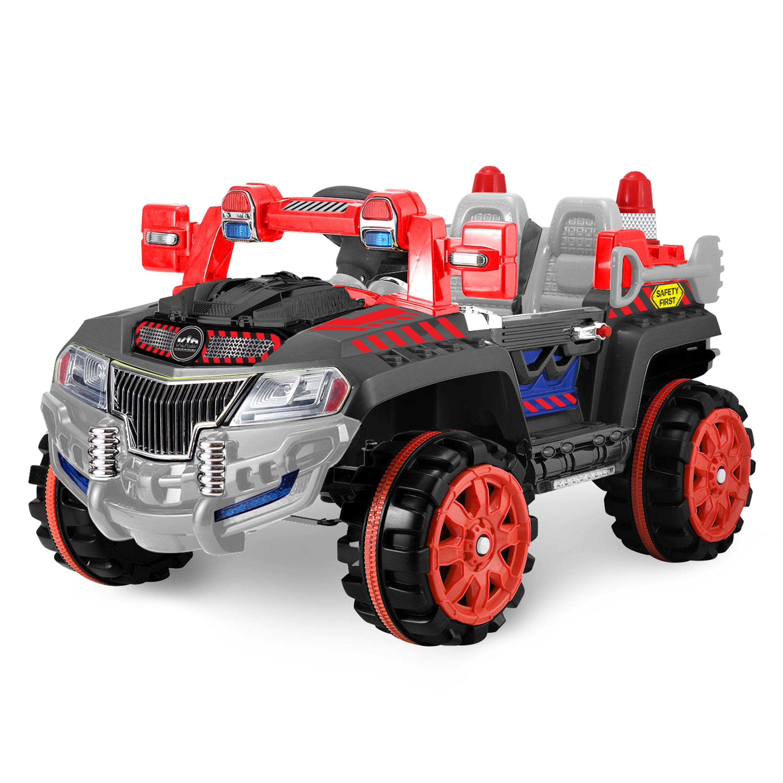 Kid Motorz Construction Car One Seater in Black (12V)