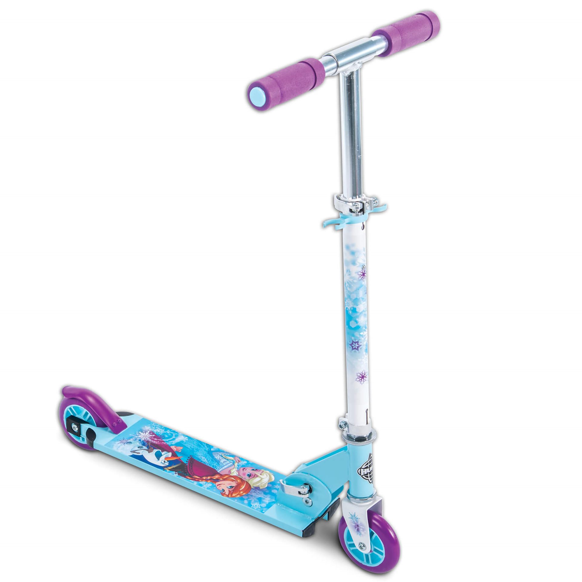 Disney Frozen Girls' 2-Wheel Inline Folding Scooter, by Huffy