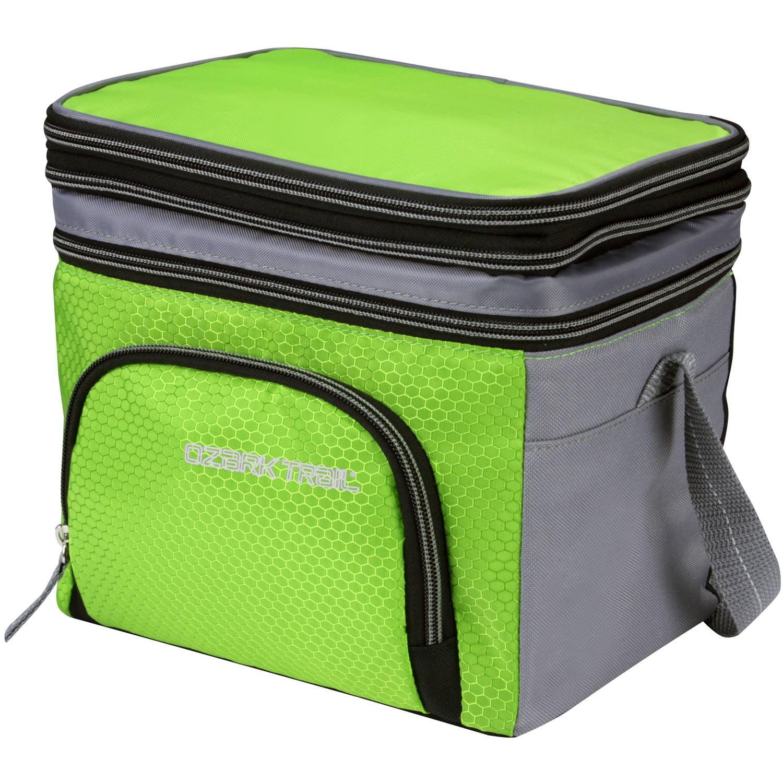 Ozark Trail 6-Can Cooler with Removable Hardliner, Green