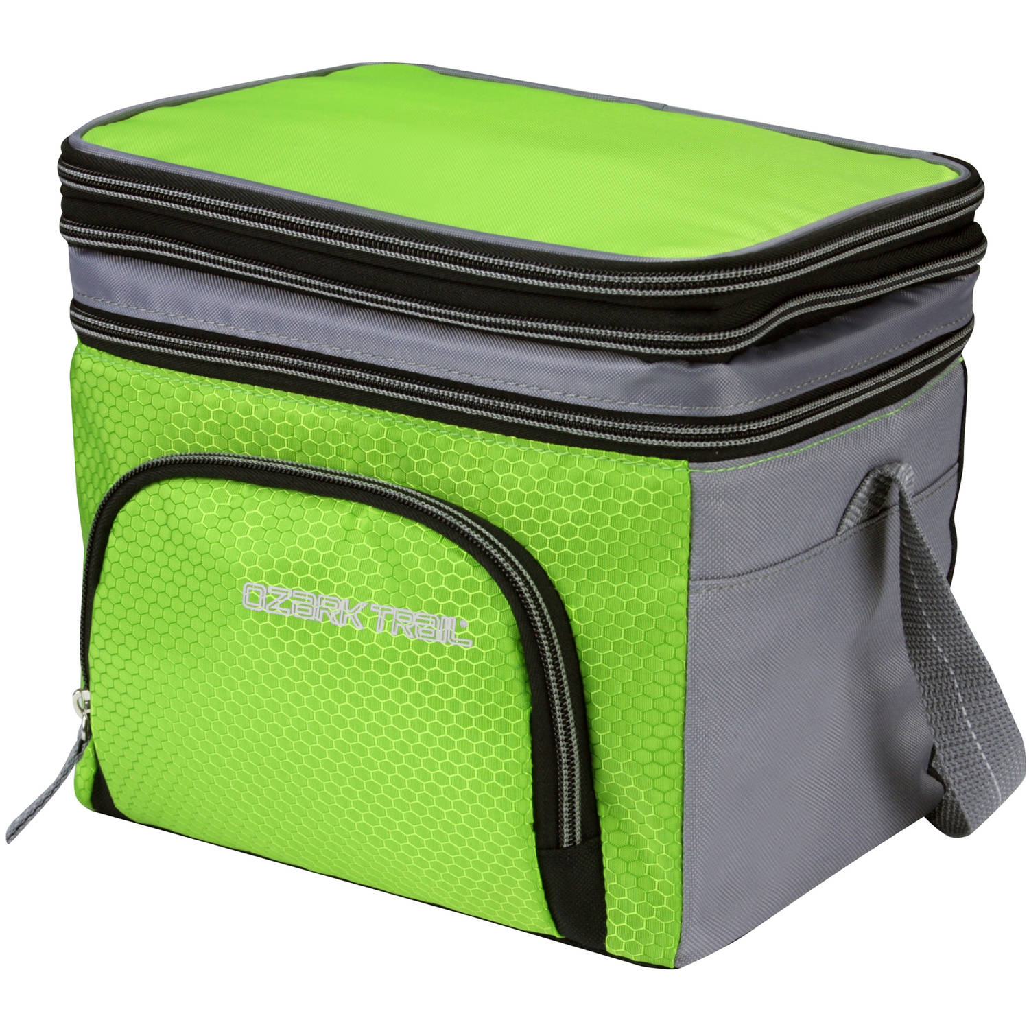 Ozark Trail 6-Can Cooler with Removable Hardliner, Green
