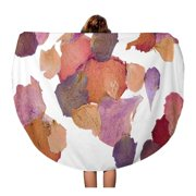 JSDART 60 inch Round Beach Towel Blanket Colorful Dry Dried Flower Petals Pink Pressed Potpourri Rose Travel Circle Circular Towels Mat Tapestry Beach Throw