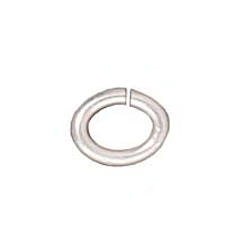 Silver Plated Brass Oval Jump Rings 4mm 20 Gauge (50)
