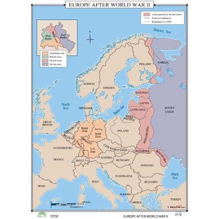Universal Map World History Wall Maps Europe After World War Ii