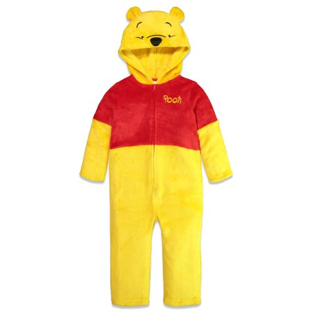 Winnie The Pooh Halloween Costumes For Toddlers (Disney Winnie The Pooh Bear Toddler Fleece Costume Hooded Cosplay Coverall)