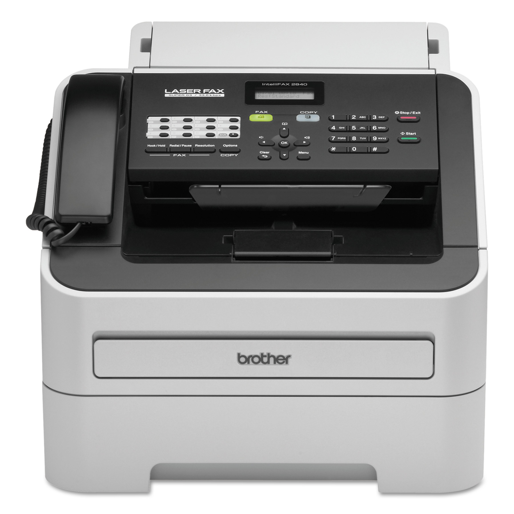 Brother intelliFAX-2840 Laser Fax Machine, Copy Fax Print by Brother