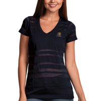 Indiana Pacers Antigua Women's Juke Burnout V-Neck T-Shirt - Navy Blue