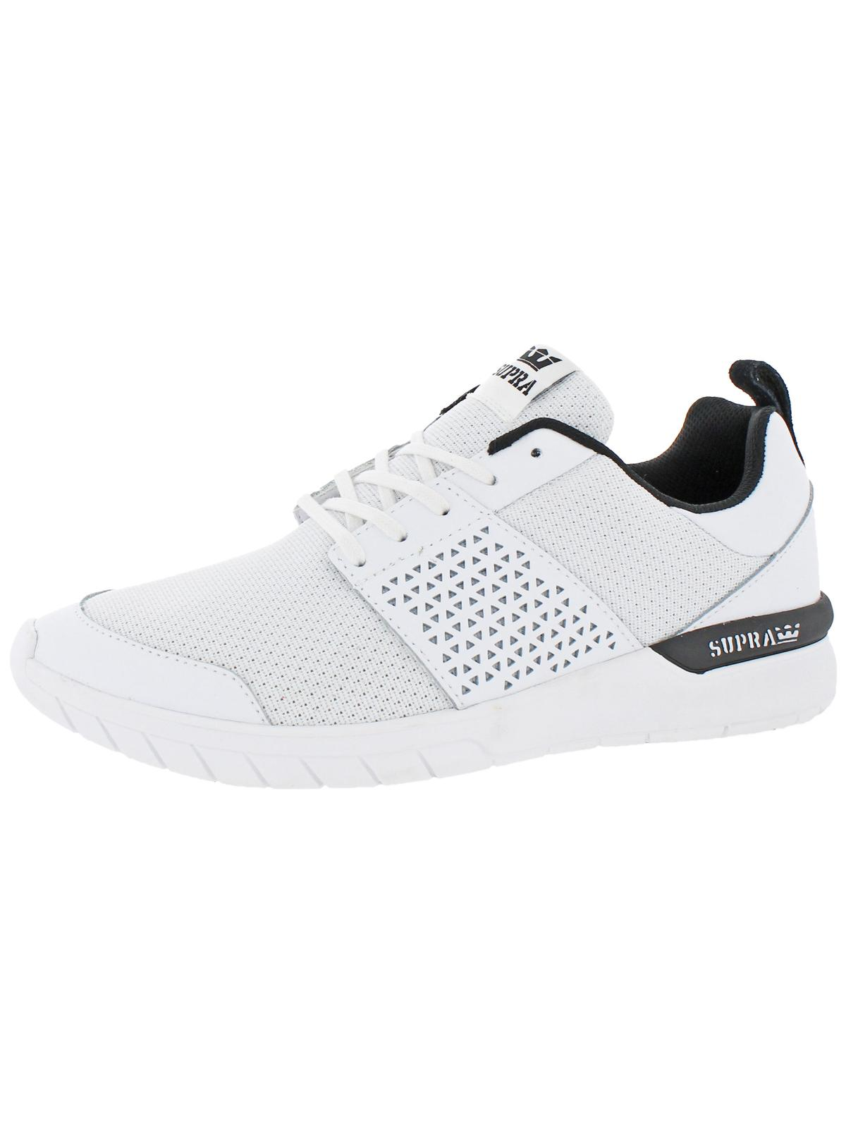 Supra Mens Scissor Running SupraFoam Skate Shoes White 10 Medium (D)