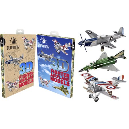 Zunammy Fighter Jets / Airplanes - 3D Puzzle Pop Up Model