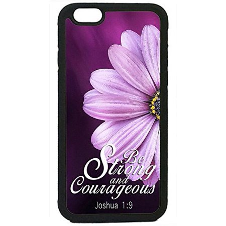 (Ganma Christian Quotes Bible Verse Joshua Rubber Silicon Black Case Cover Case For iPhone 6 / 6s (4.7 INCH),)