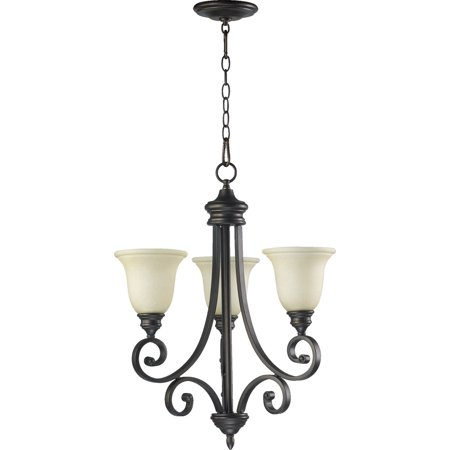 Chandeliers 3 Light With Oiled Bronze Finish Medium Base Bulbs 21 inch 180 Watts 3 Oiled Bronze Finish