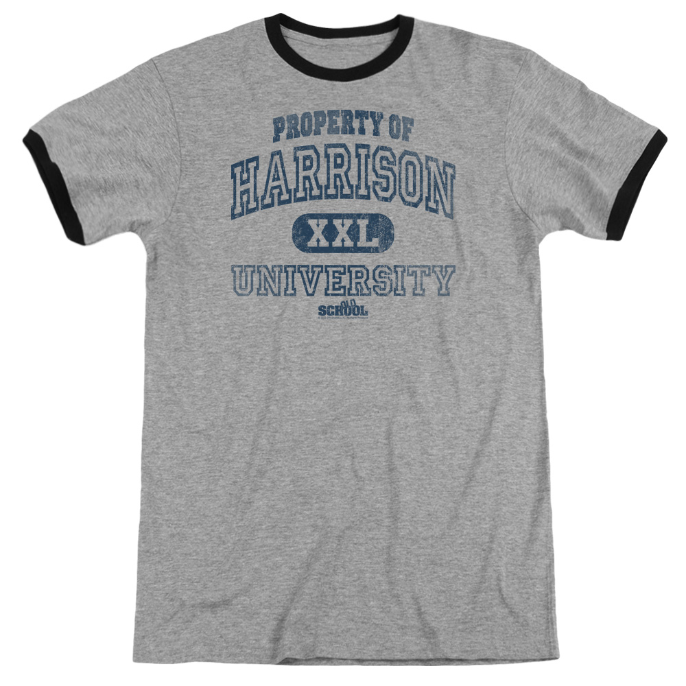 Old School Property Of Harrison Mens Adult Heather Ringer Shirt