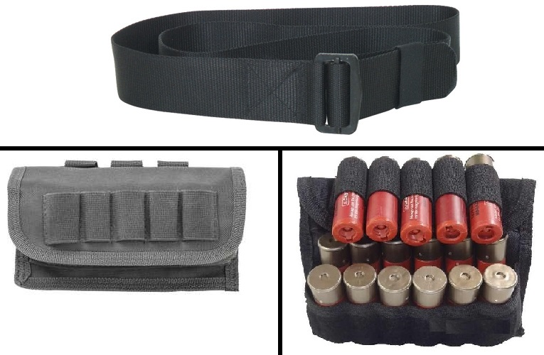 Ultimate Arms Gear 2 Pack Of Tactical Urban Grey 17 Shot Shell Ammunition Ammo Reload Carrier Pouch MOLLE, PALS & Belt... by