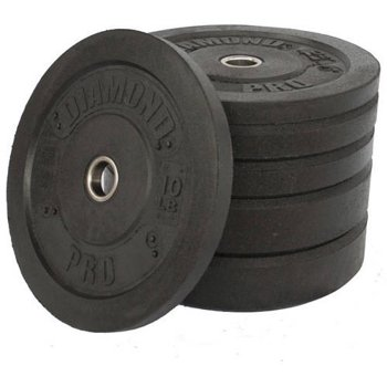 Diamond Pro 160 lb Crumb Bumper Plate Set